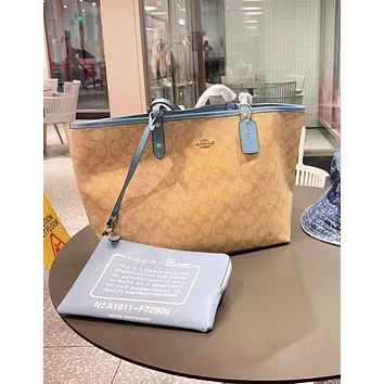 Coach fashion hot seller printed two-piece one-shoulder bag casual lady shopping bag