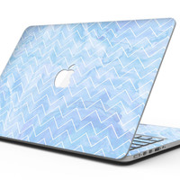 Blue Watercolor Chevron - MacBook Pro with Retina Display Full-Coverage Skin Kit