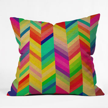 Rebecca Allen Color Quest Outdoor Throw Pillow