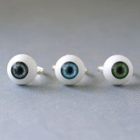 Handmade Gifts | Independent Design | Vintage Goods Creepy Eyeball Ring