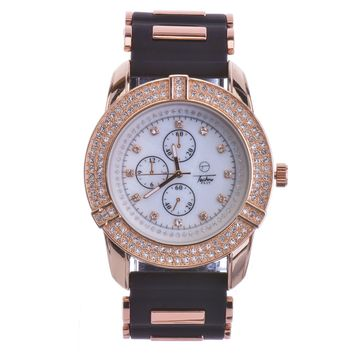 Jewelry Kay style Hip Hop Rose Gold Techno Pave New Fashion Bling Iced Out Watches WR 7949 RG