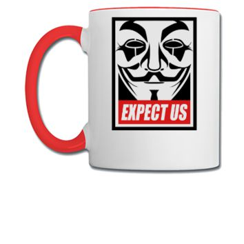Anonymous Expect us - Coffee/Tea Mug