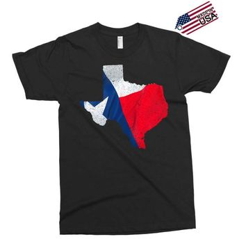 Eroded Texas Map With Flag Exclusive T-shirt