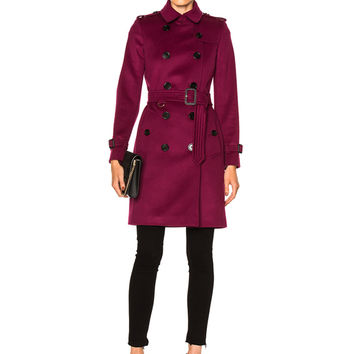 Burberry London Trench Coat in Cherry Pink | FWRD