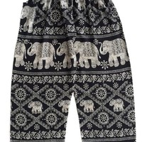 Black Elephant Pants Diamond Pattern