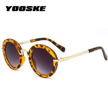 YOOSKE Fashion Round Cute Kids Sunglasses Children Brand Designer Boys Sun glasses Baby Vintage Child Glasses Gifts