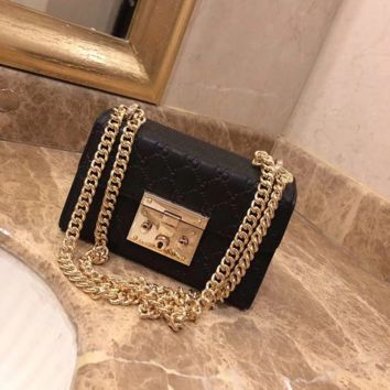 Gucci Marmont Women Shopping Leather Metal Chain Crossbody Satchel Shoulder Bag