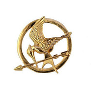 SALE the hunger games mocking jay brooch pin GOLD tone/mockingjay brooch/mockingjay pin/mockingjay brooch