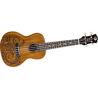 Luna Guitars Tattoo Concert Mahogany Ukulele | GuitarCenter