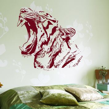 Wall Stickers Tiger Roar Head Jungle Africa Ethnic Decor Unique Gift z3656