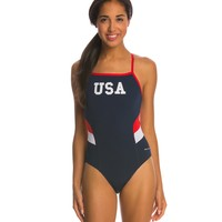 Sporti Poly Pro USA Thin Strap One Piece Swimsuit at SwimOutlet.com