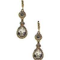 Givenchy Crystal Drop Earrings - Gold/Crystal