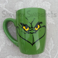 Grinch Inspired Coffee Mug, Personalized Mug, Christmas Gifts, Grinchmas, Gifts for Men, Stole Christmas, Cindy Lou Who, Funny Mugs, Coffee,