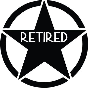 US Army Retired Vinyl Graphic Decal