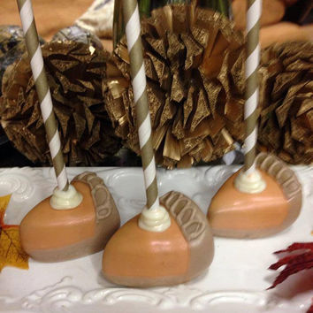Pumpkin Pie Slice Cake Pops