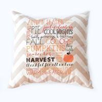 Fall Pillow Subway Art Decorative Throw Pillow Fall Decor Autumn Decor Halloween Decoration Thanksgiving Pumpkins Home Decor Home and Livin