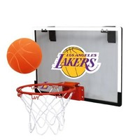 NBA Los Angeles Lakers Game On Indoor Basketball Hoop & Ball Set, Large, Purple