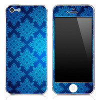 Blue Pattern iPhone 3g/3gs, 4/4s or 5 Skin