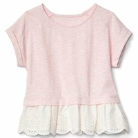 Eyelet peplum top | Gap