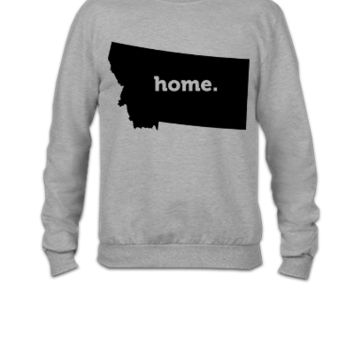 Montana Home Black - Crewneck Sweatshirt