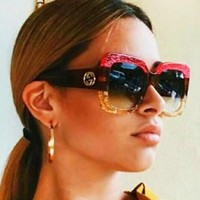 GUCCI New Fashion Unique Cute Cool Sunglasses Glasses Pink/Yellow