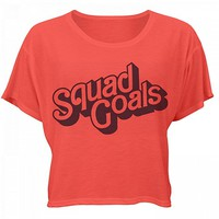 Squad Goals Favorite Cheer Shirt: Bella Women's Flowy Boxy Tee
