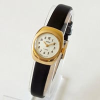 Rarest Ladies Watch CHAIKA. Small Vintage Women Watch 70s. Mechanical Womens Wristwatch. Gold Plated Woman Watch 17 Jewels. Gift For Her