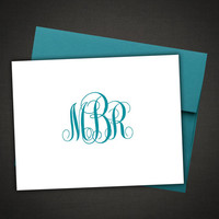 Personalized Stationery Monogram Thank You Note Cards