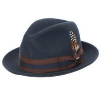 Stacy Adams Pinch Front Fedora with Two-Tone Band