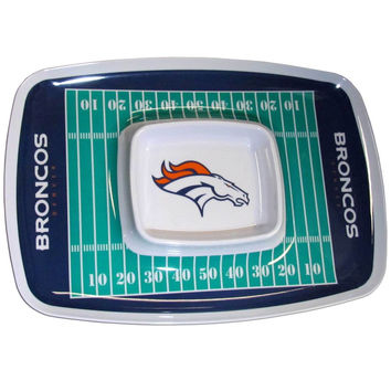 Denver Broncos Chip and Dip Tray FCTY020