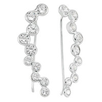 Amorium Bubble Ear Cuff - Silver
