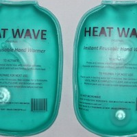 HEAT WAVE Instant Reusable Hand Warmers - 1 pair