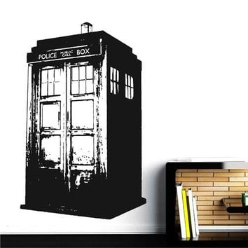 ik2256 Wall Decal Sticker Time Machine Spaceship tardis doctor who bedroom