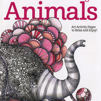 Creative Coloring Animals Adult Coloring and Activity Book by Valentina Harper