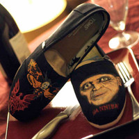 Hannibal Lecter themed Custom TOMS Silence of the Lambs Red Dragon