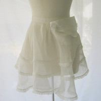 Vintage Sheer White Half Apron with by darlingtoniavintage on Etsy