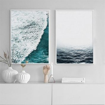 Nordic Print Modern Seascape Scenery Wall Art Canvas Painting Scandinavian Minimalism Posters and Prints Wall Picture Home Decor