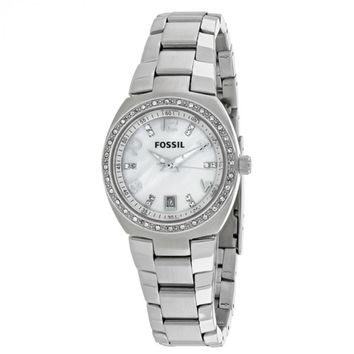 Fossil Womens AM4141 Glitz  Silver Mother of Pearl Dial Watch