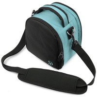 VanGoddy Laurel SKY BLUE Compact Entry Level DSLR & SLR Camera Bag for Canon EOS Rebel T6i, T6, T5i , T5 , T4 , T3i , T3i