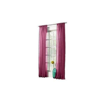 Avril Crushed Sheer Curtain Panel, 50 X 63, Berry