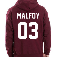 Harry Potter Hoodie Draco Malfoy 03 Hooded Sweatshirt Logo Black White Gray Red Maroon Unisex Hoodie Tee S,M,L,XL #1