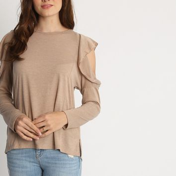 Selena Sleeve Cut Out Top | Ruche