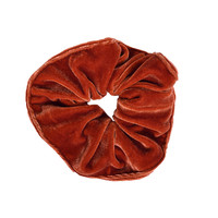Velvet Goldmine Scrunchie - Rust