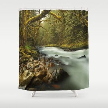 Brook Shower Curtain by Gallery One