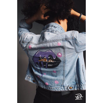 "PVT. ""She Looked Like Art"" Denim Jacket"