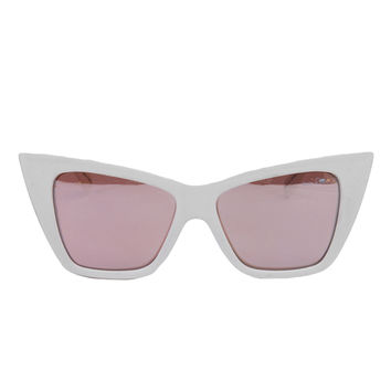 Quay x Shay Mitchell White Vesper Sunglasses