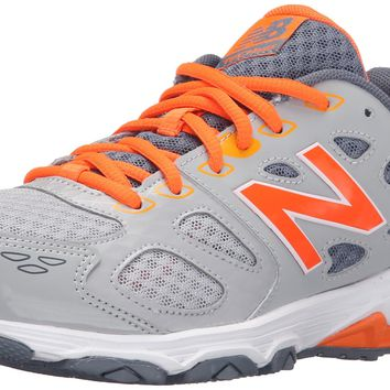 new balance kr680 youth running shoe little kid big kid grey orange little kid 4 8 years 11 w us little kid