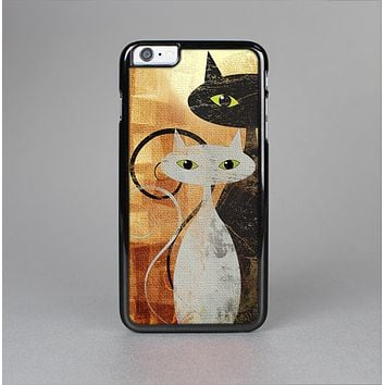 The Orange Grungy Textured Cat Skin-Sert for the Apple iPhone 6 Skin-Sert Case
