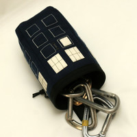 Hand Crafted TARDIS Chalk Bag, Rock Climbing