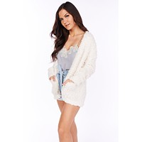 Place of Dreams Popcorn Knit Cardigan (Ivory)